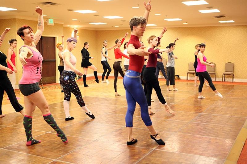 Paris Original teaching ballet movement class (2014)